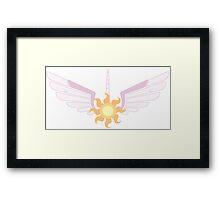 Princess Celestia Symbol Framed Print