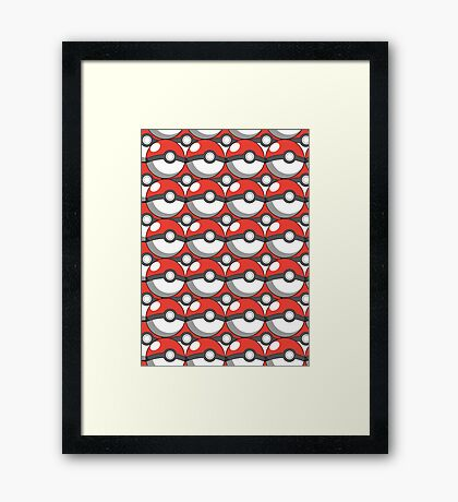 Pokeball Collage Framed Print