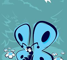 blue mountain butterfly by mangulica