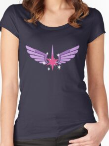 Princess Twilight Symbol Women's Fitted Scoop T-Shirt