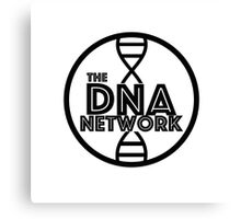 DNA Network Logo - Black Canvas Print