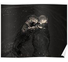 Sea Otters II Toned Poster