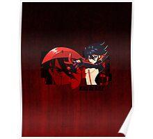 Red Scissor Blade Poster