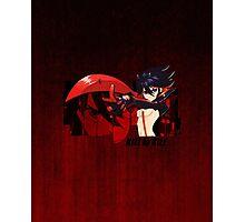 Red Scissor Blade Photographic Print