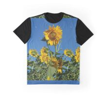 Sunflower Bee & Moon Graphic T-Shirt