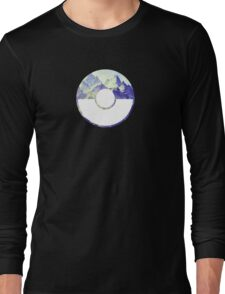 Team Mystic Pokeball Long Sleeve T-Shirt