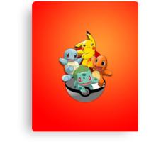 First Generation Pokemon Canvas Print