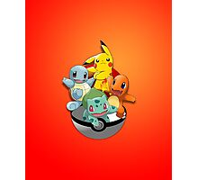 First Generation Pokemon Photographic Print