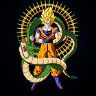 Shenron X Son Goku by coffeewatson