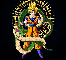 Shenron X Son Goku by coffeewatson