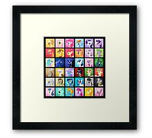 Pony Blocks Framed Print