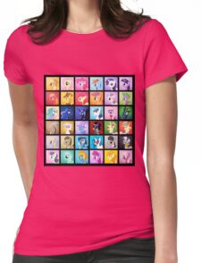 Pony Blocks Womens Fitted T-Shirt