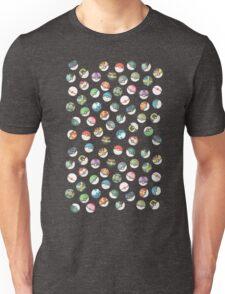 Pokeball Variants Scatter Pattern Unisex T-Shirt