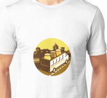 Beer Flight Glass On Van Cityscape Circle Retro Unisex T-Shirt