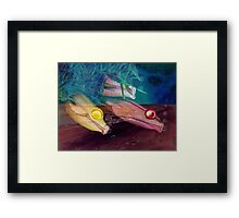 Little fishes float in dreams and nothings ever as it seems Framed Print