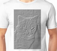 Embossed Profile of a Cat Unisex T-Shirt