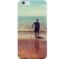 Getting his feet wet iPhone Case/Skin