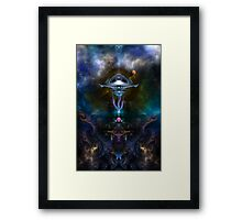 Space Station Ansarious Framed Print