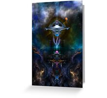 Space Station Ansarious Greeting Card