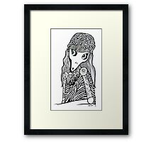 Skull Cap Girl Framed Print