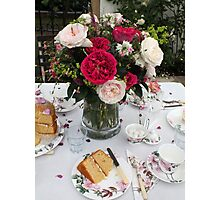 Still Life with Afternoon Tea Photographic Print