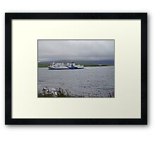 Northlink Orkney Ferry and Hoy Low Lighthouse. Scotland Framed Print