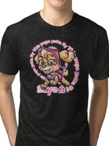 Flying Pup Tri-blend T-Shirt
