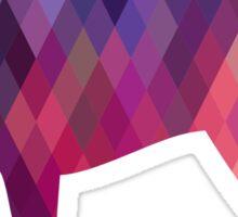 Parson Terrier - Colorful Geometric Pattern - Pink Sticker