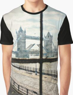 Tower Bridge from the Wall of the Tower of London Graphic T-Shirt