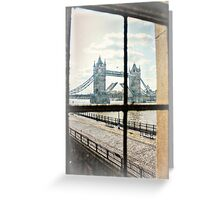 Tower Bridge from the Wall of the Tower of London Greeting Card