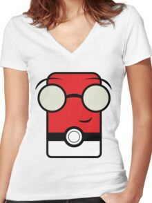 Poke anime Women's Fitted V-Neck T-Shirt