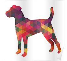 Parson Terrier - Colorful Geometric Pattern - Multi Poster