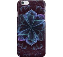 Ornate Blossom in Cool Blues iPhone Case/Skin