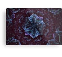 Ornate Blossom in Cool Blues Metal Print