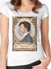 Sherlock Art Nouveau Women's Fitted Scoop T-Shirt