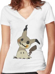 Mimikyu / Mimikkyu Women's Fitted V-Neck T-Shirt