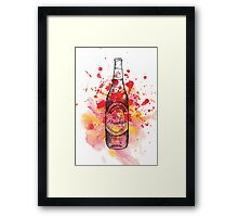 Life is Brewtiful Beer Bottle Framed Print