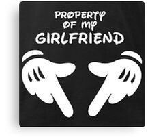 Property of my girlfriend  Canvas Print
