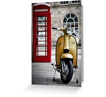 Yellow Lambretta GP Greeting Card