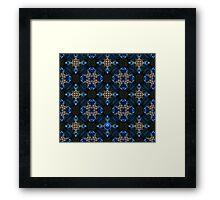Kaleidoscope Golden Blue Framed Print