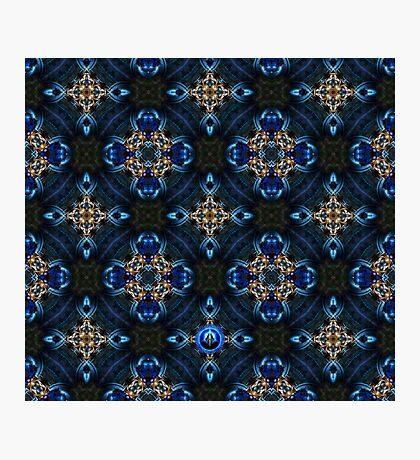 Kaleidoscope Golden Blue Photographic Print