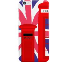 LONDON TELEPHONE BOX and POST BOX iPhone Case/Skin