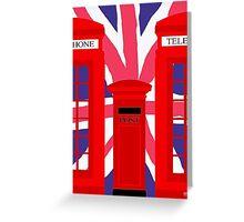 LONDON TELEPHONE BOX and POST BOX Greeting Card