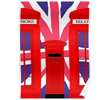 LONDON TELEPHONE BOX and POST BOX Poster
