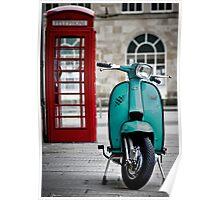 Turquoise Lambretta GP Poster
