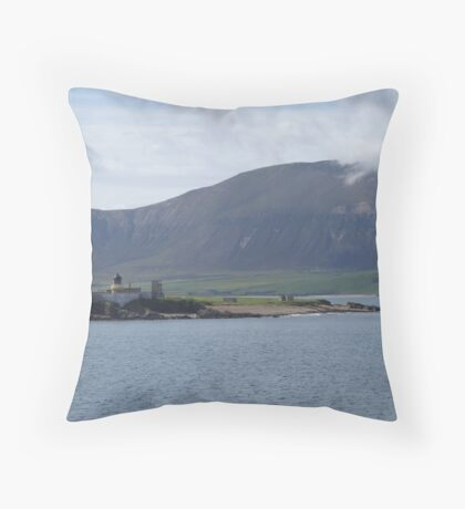 Isle of Hoy and Hoy Low Lighthouse Throw Pillow