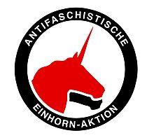 Antifaschistische Einhorn-Aktion Photographic Print