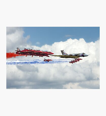 Reds Arrows with XH558 Photographic Print