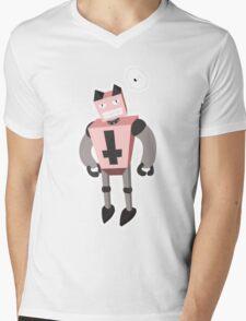 robocat Mens V-Neck T-Shirt