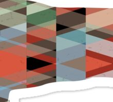 Jack Russell Terrier - Colorful Geometric Pattern - Plaid Sticker